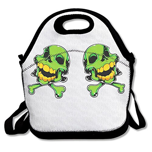 NEST-HOMER Lunch Box Smiley Face Skeleton Lunch Bag Insulation Picnic Bag Portable And Easy To Carry Lunch Bag