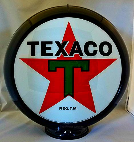 The Finest Website Inc. New Reproduction Texaco Gas Pump Globe Already Assembled - Black Outer Frame - Ships Free Next Business Day to Lower 48 States