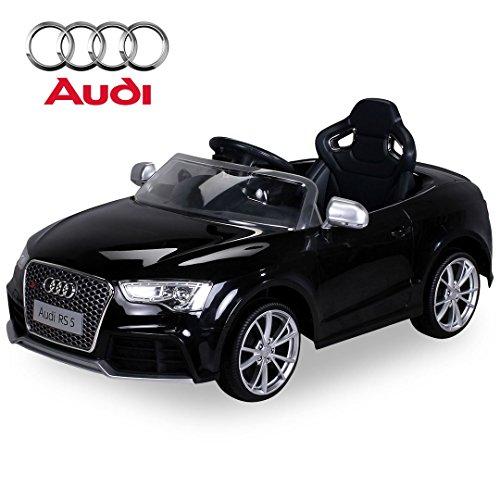 Kinder Elektroauto Lizenzierter Audi RS5 Lizenziert 2 x 35 Watt Motor Original Elektro Kinderauto Kinderfahrzeug (schwarz)