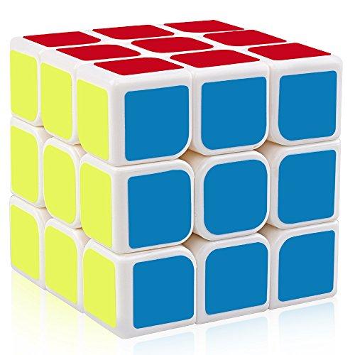 D-FantiX Yj Guanlong 3x3 Speed Cube Magic Cube Puzzle White 56mm