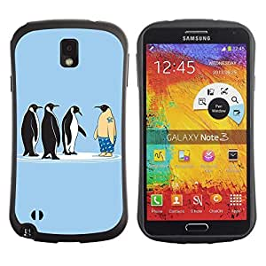 Hybrid Anti-Shock Bumper Case for Samsung Galaxy Note 3 / Penguins