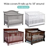 TILLYOU Personalized Padded Baby Crib Rail Cover