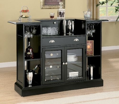 Coaster Traditional Cherry Finish Bar Unit w/Wine Rack Sink