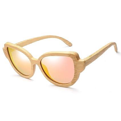LX-LSX Gafas De Sol Polarizadas Ojos De Gato De Bambú Deportes Al Aire Libre