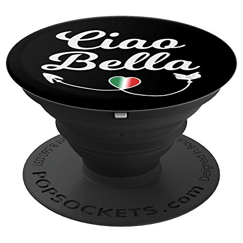Italian Flag Heart Ciao Bella Hello Beautiful - PopSockets Grip and Stand for Phones and Tablets