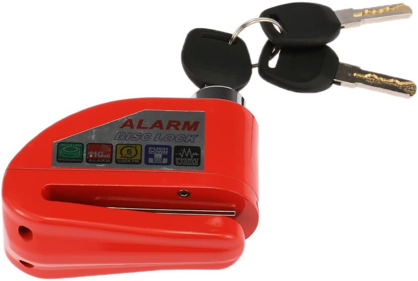 KKmoon Bloque Disque Moto Antivol Bloc verrous de s/écurit/é serrure antivol de s/écurit/é de la serrure du frein /à disque de v/élo du motocycle du v/élomoteur rouge