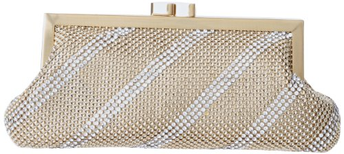 Matte Clutch Dimple Whiting Davis Mesh Gold and RvHTqU