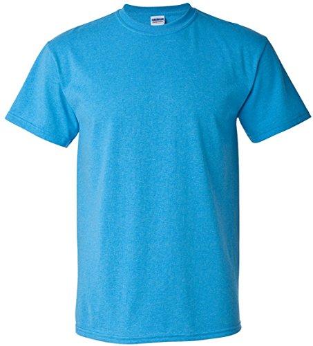 large Uomo X heather Gildan Manica Sapphire Corta Maglietta Us Heavy Cotton Tq68f