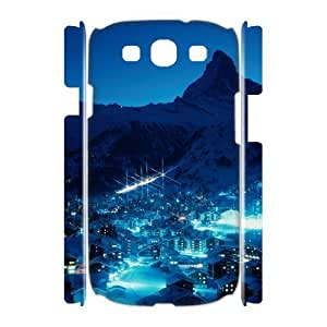 3D Bloomingbluerose Ski Resort at Night Samsung Galaxy S3 Case, {White}