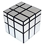 Energlite 3X3X3 Speed Magic Silver Cube Ultra-Smooth Educational Puzzle Cube Toy Color Silver
