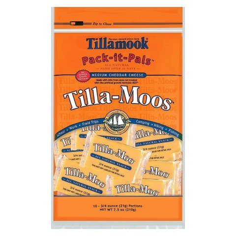 Tillamook Pack-it-Pals 10-pk. Tilla-Moos Medium Cheddar Cheese Snack Portions .75-oz.