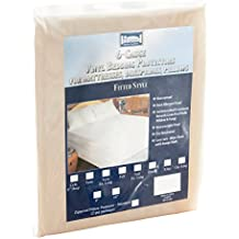 """The Allergy  Store Fitted Vinyl Mattress Cover, 6 Gauge, 16"""" Deep Queen White"""
