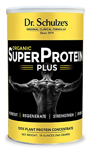 Dr. Schulze's | SuperProtein Plus | 100% Plant Protein Concentrate | Organic Powder Mix | Vitamin B-12 & Spirulina | Dietary Supplement | Build Strong Muscle | Enhance Workout Recovery | 19 Oz. Review