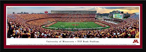 Minnesota Football   Blakeway Panoramas College Sports Posters With Select Frame