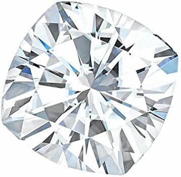 6.0 MM Cushion Brilliant Cut Forever One® Loose Moissanite by Charles & Colvard - Very Good Cut (0.96ct Actual Weight, 1.10ct Diamond Equivalent Weight)