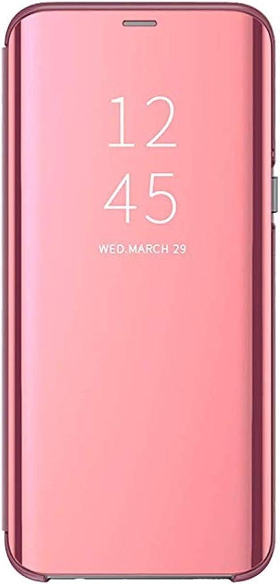 Carcasa Samsung Galaxy J3 2017/J5 2017 Flip Fundas Espejo PC Clear View Transparente 360° Protectora Anti-Choque Ultra Delgado con Función de Soporte para J7 2017 5.5