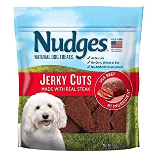 Nudges Steak Jerky Dog Treats, 16 oz (014134)
