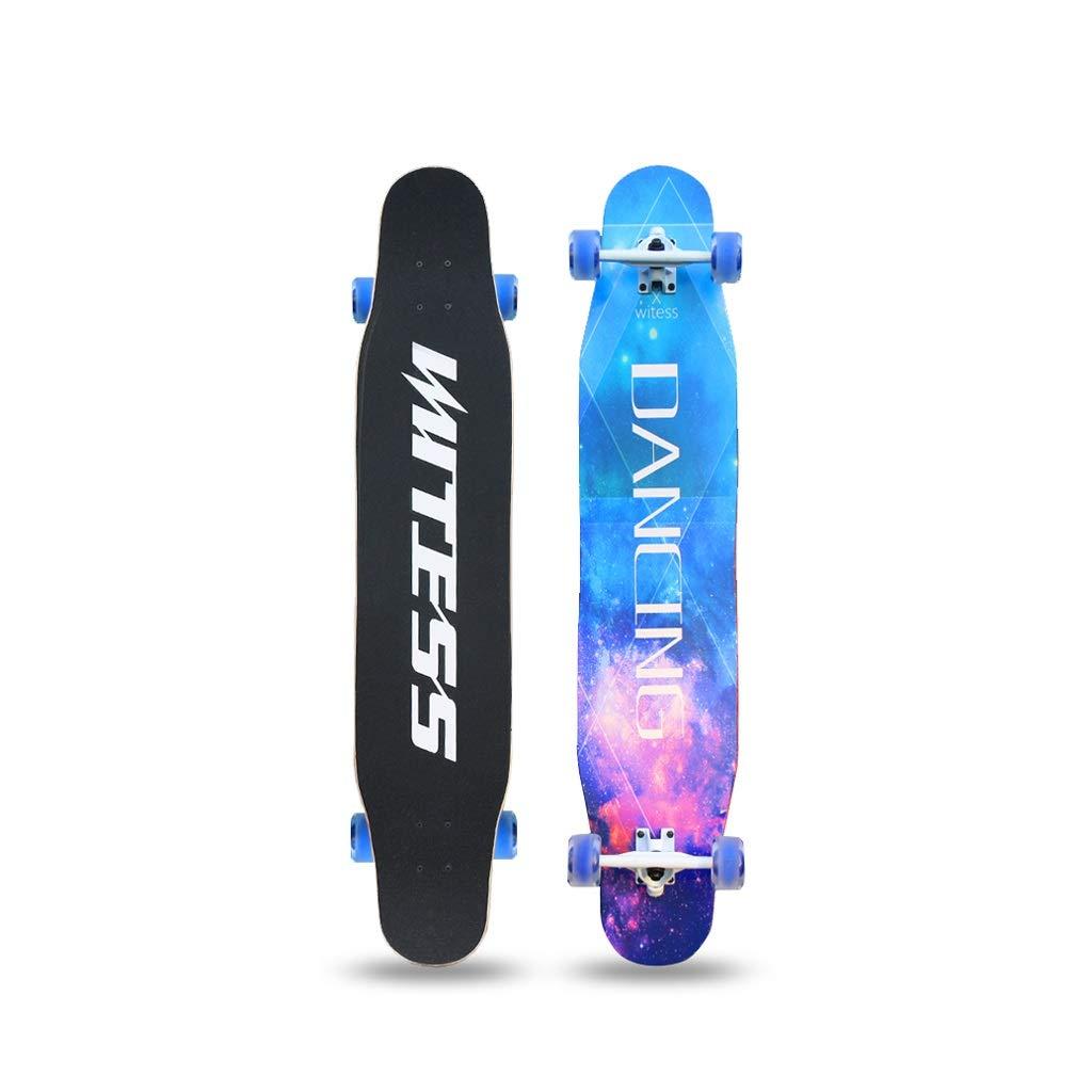 HXGL-Skateboards Longborads Skateboards 47 Inches Complete Skateboard for Beginner Professional Skateboard Brush Street Gift Flash Wheel - Dancing (Color : A)