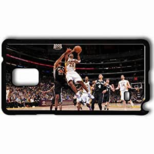 Personalized Samsung Note 4 Cell phone Case/Cover Skin AB Spurs Lakers Black