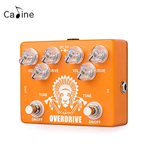 Caline CP-70 High Chief Dual Overdrive Electric Guitar Effects Pedals Metal True Bypass