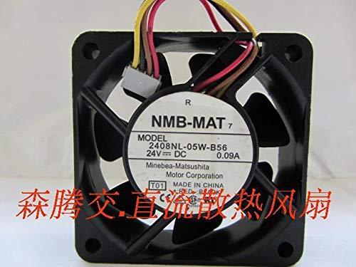- FidgetFidget 2pcs -MAT 2408NL-05W-B56 6020 24V 0.09A 4Pin Drive Cooling Fan #M3522 QL