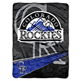 MLB Colorado Rockies Speed Plush Raschel Throw, 60
