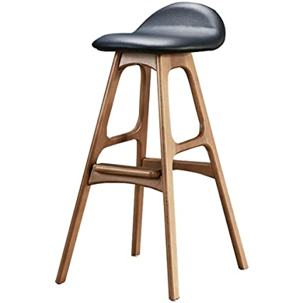 Fantastic Amazon Com Bar Stool Wooden Bar Chair Nordic Dining Chair Creativecarmelina Interior Chair Design Creativecarmelinacom