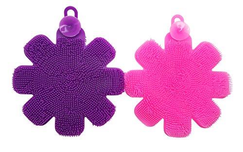 JJMG New Multipurpose Antibacterial Silicone Scrub Scrubber Sponge - Dish Scrubber Antibacterial