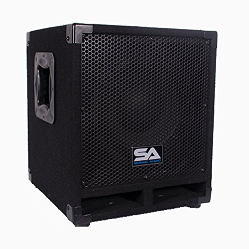 Seismic Audio Really-Mini-Tremor Powered 10-Inch Pro Audio Subwoofer Cabinet 250-Watts RMS Active Subwoofer