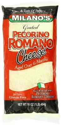 Milano's Romano Cheese Bags, Grated Pecorino, 16 Ounce
