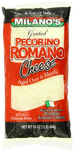 Milano's Romano Cheese Bags, Grated Pecorino, 16 Ounce