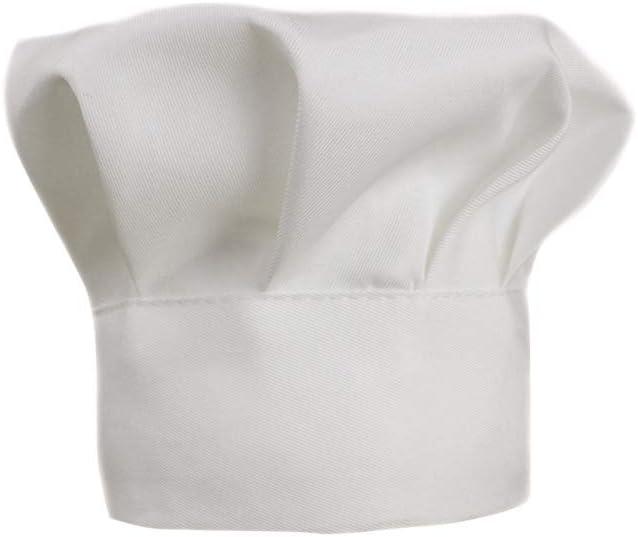 BESTOYARD Chef Sombrero de Halloween Cosplay Disfraces Accesorios Bebé Sombrero de Lona Fancy Head Cap Baby Shower Suministros Fotos Props (Blanco)