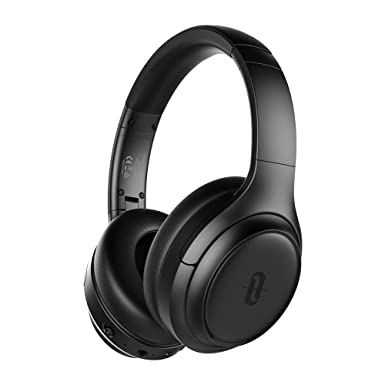 TaoTronics Active Noise Cancelling Headphones 2019 Upgrade Bluetooth Headphones SoundSurge 60 Over Ear Headphones Sound Deep Bass, Quick Charge, 30 Hours Playtime for Travel Work TV PC Cellphone