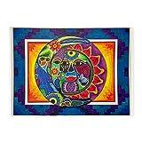 CafePress - Mexican Sun And Moon - Decorative Area Rug, 5'x7' Throw Rug