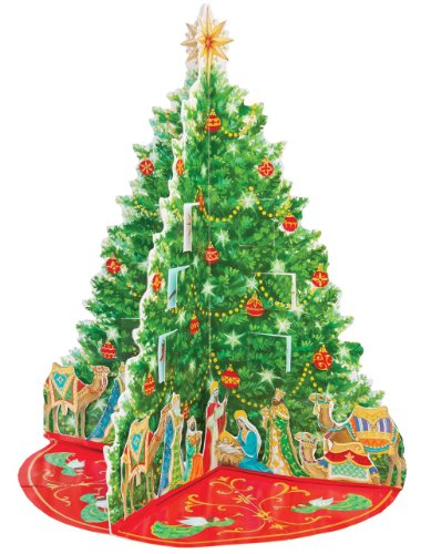 Caspari Nativity Tree Pop-Up Advent Calendar