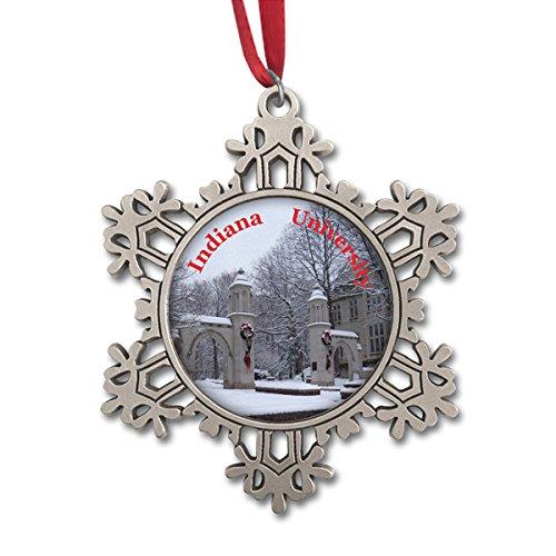 Indiana University Sample Gates Large Snowflake Ornament IUOR24801 ()