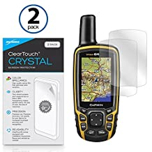 Garmin GPSMAP 64 Screen Protector, BoxWave® [ClearTouch Crystal (2-Pack)] HD Film Skin - Shields From Scratches for Garmin GPSMAP 64, 64s, 64st