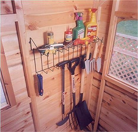 Estante para herramientas y almacenamiento para cobertizo, garaje, invernadero, etc., color verde: Amazon.es: Jardín