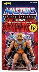 This is the Masters of the Universe Vintage He-Man 5 1/2-Inch Action Figure. - Action Figure - 3 Accessories
