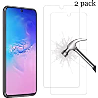 XINKOE [2-Pack] Screen Protector for Samsung Galaxy Note 10 Lite, Ultra slim HD 2.5D Pro-Fit Premium Tempered Glass Screen Protector -Transparent