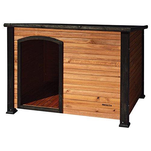 - Precision Pet by Petmate Extreme Weather-Resistant Log Cabin Dog House with Adjustable Feet, 4