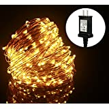 ALED LIGHT® Led Copper Wire Flexible Fairy Lights Indoor and Outdoor Starry String Lights for Garden, Patio, Wedding, Tree, Party, Christmas (20M, Warm White)