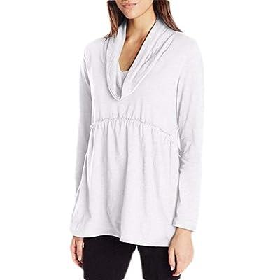 Blusa de Seguridad para Mujer, Manga Larga, Informal, Cuello de Vaca, sólida, Blusa Blanco Blanco US XXL: Ropa y accesorios