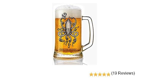 Jarra de Cerveza vidrio 50 cl. estilo vintage Modelo Kraken ...