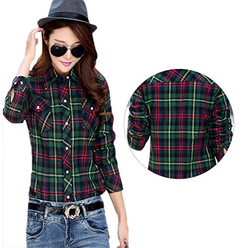 Vert Para Cuello Rouge Casual Pagacat Camisas Mujer Vuelto qP6IHY
