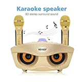 Leegoal Karaoke Speaker Portable Bluetooth Karaoke System Machine with Bluetooth/AUX/USB/SD Card Connectivity 2