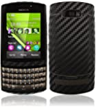 Skinomi® TechSkin - Nokia Asha 303 Screen Protector + Carbon Fiber Full Body Skin / Front & Back Premium HD Clear Film / Ultra Invisible and Anti Bubble Shield with Free Lifetime Replacement