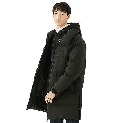 Abrigos Ropa/Hombre/Ropa algodón Negro Grueso de Tendencia Chaqueta de Abajo Chaqueta de