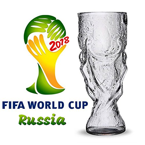 BonZeal World Cup Glass Creative Football Wine Glass Cup Largest Wine Fifa World Cup Glass