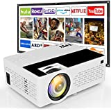 TMY Projector, 4500 Lux Video Projector 1080P Full HD Supported [Projection Screen Included], HD Native 720P Mini Projector Compatible with TV Stick HDMI VGA USB TF for Home Cinema & Outdoor Movie.
